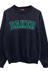 BAKER BAKER DROP OUT CREWNECK SWEATSHIRT NAVY