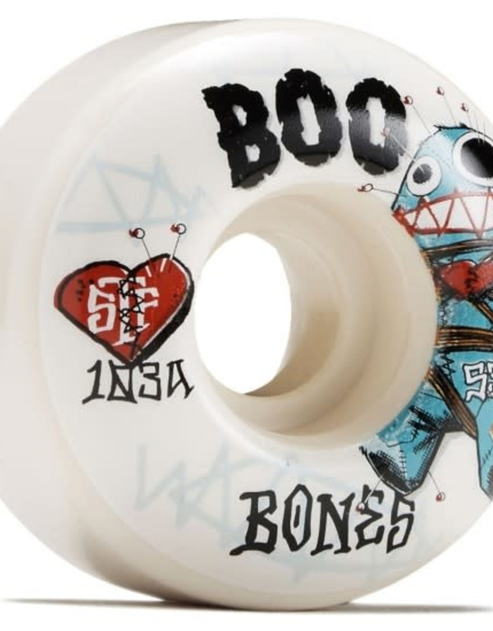 BONES BONES 53MM BOO JOHNSON VOODOO STF V5 103A WHEELS