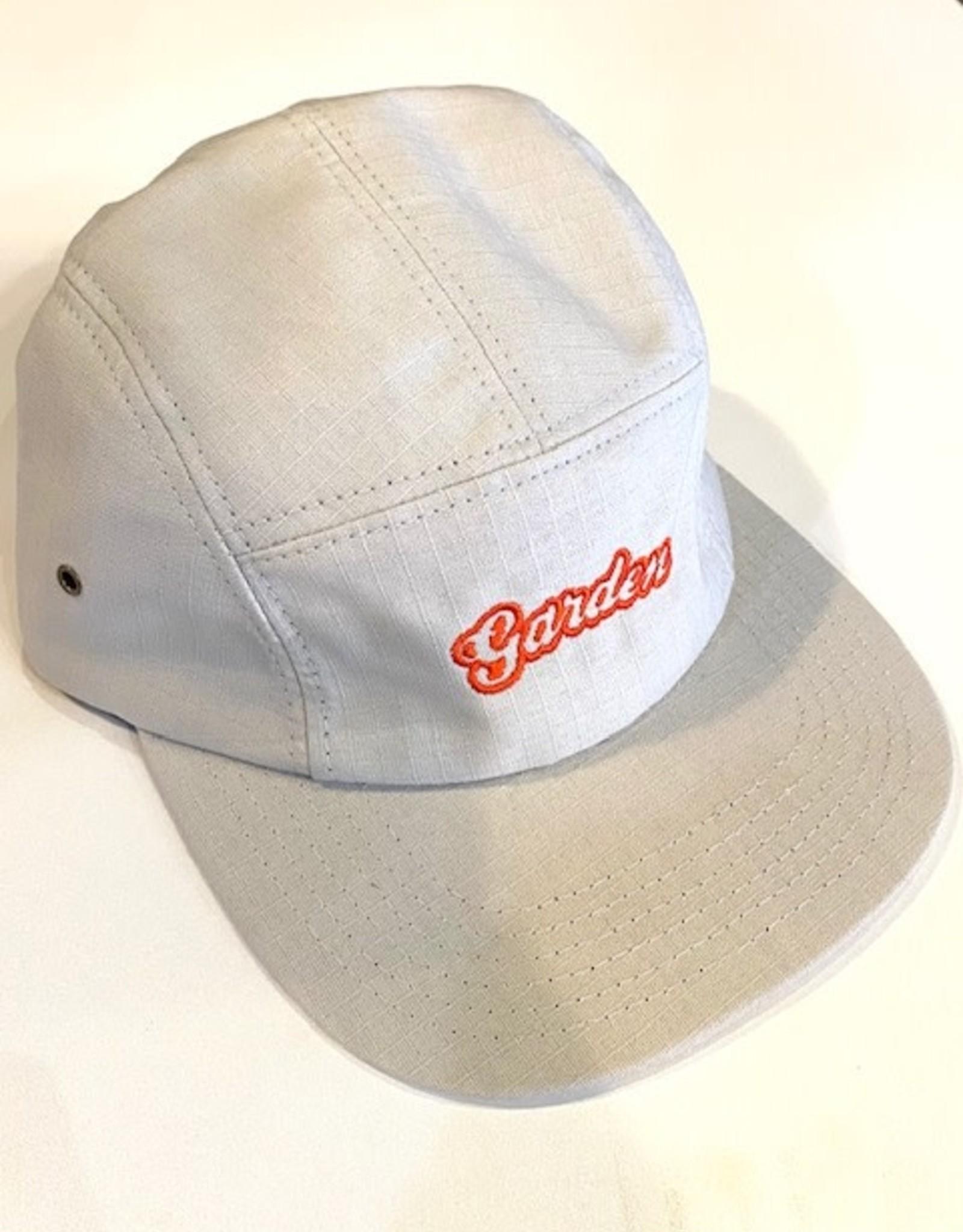 GARDEN GARDEN LIGHT GREY W/ ORANGE RIPSTOP 5 PANEL CLIPBACK HAT