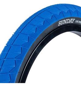 "SUNDAY SUNDAY CURRENT V2 BLUE BLACK TIRE 20"" 2.40"" BMX TIRE"
