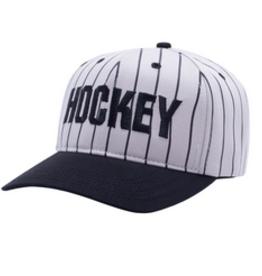 HOCKEY HOCKEY STRIPED SNAPBACK HAT GREY BLACK