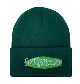 FROG FROG OVAL LOGO BEANIE GREEN