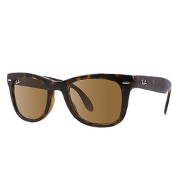 RAY BAN RAY BAN FOLDING WAYFARER LIGHT HAVANA