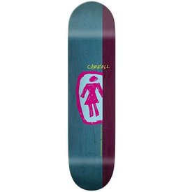 """GIRL GIRL SKATEBOARDS CARROLL SKETCHY OG DECK 8.37"""""""