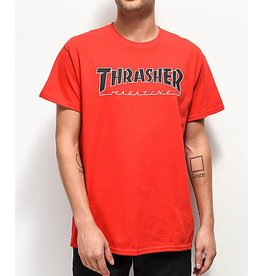 THRASHER THRASHER OUTLINED TEE RED