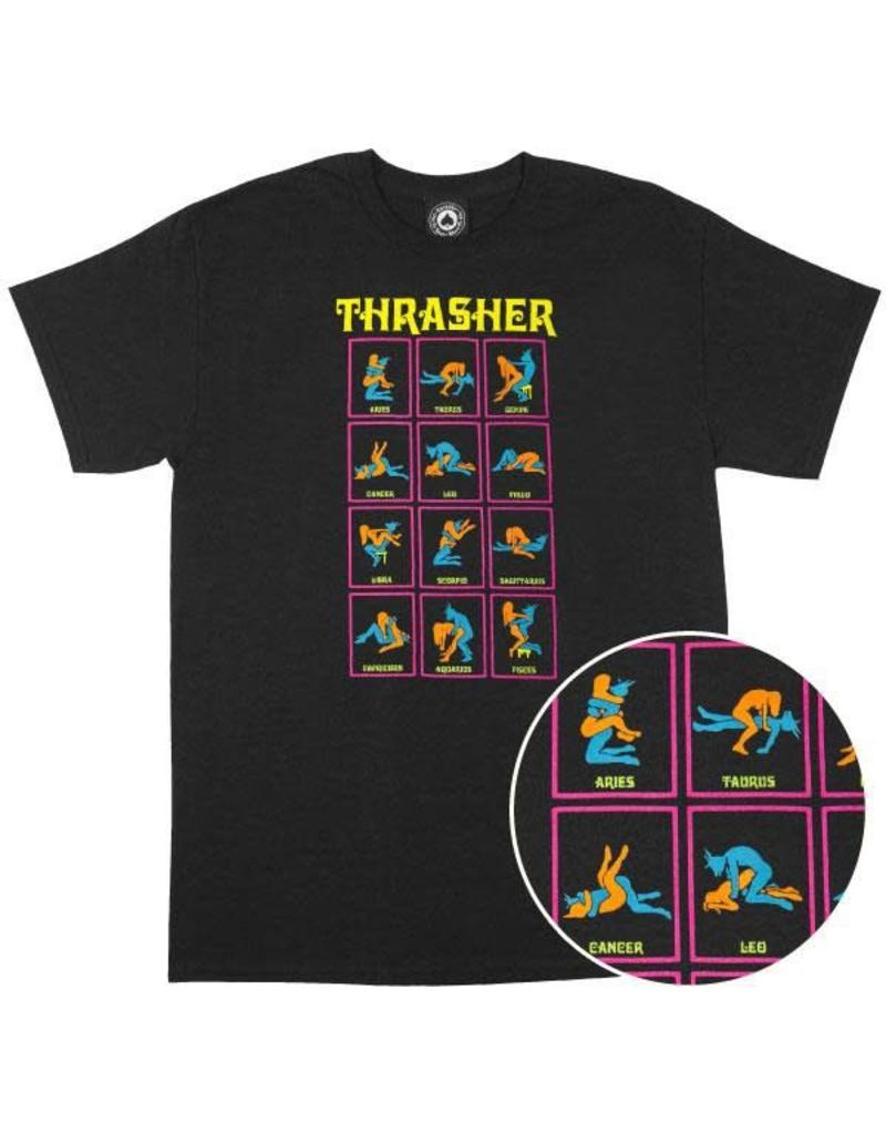 THRASHER THRASHER BLACK LIGHT TEE