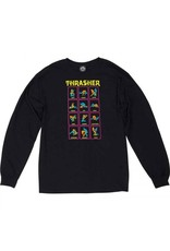 THRASHER THRASHER BLACK LIGHT L/S LONGSLEEVE TEE