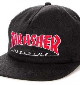 THRASHER THRASHER OUTLINED SNAPBACK HAT BLACK