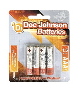 Doc Johnson AAA Size Battery 4 Pack