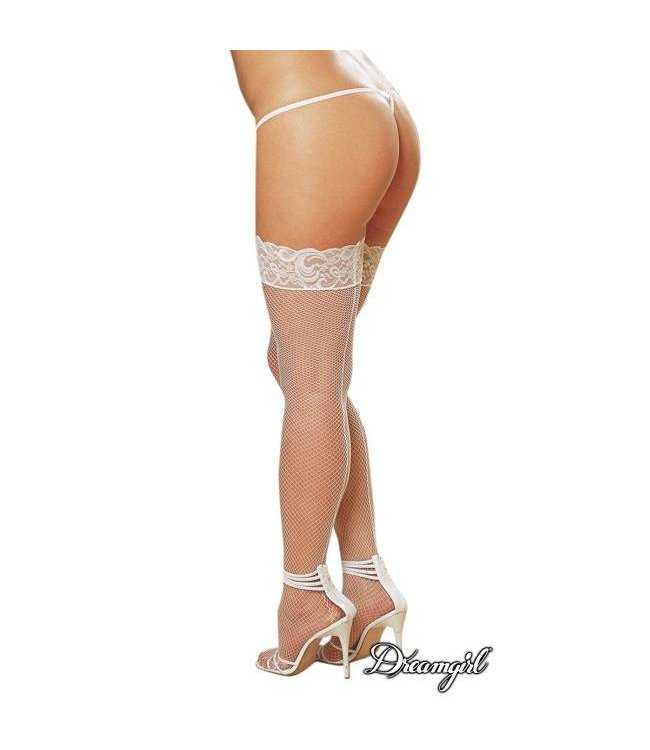 """Dreamgirl Dreamgirl """"Milan"""" Fishnet Stocking with Back Seam OSX"""