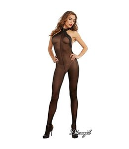 Dreamgirl Sheer Halter Bodystocking OS