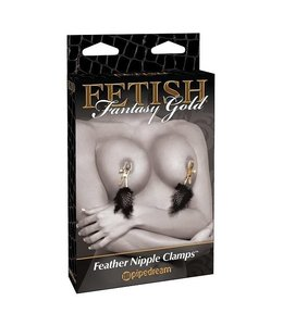 Fetish Fantasy Gold Fetish Fantasy Gold Feather Nipple Clamps