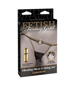 Fetish Fantasy Gold Fetish Fantasy Gold Vibrating Micro G-String Set