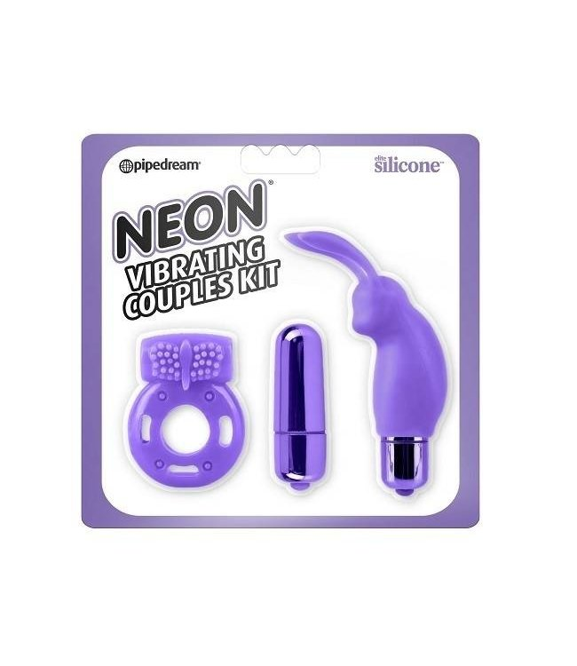 Neon Luv Touch Neon Vibrating Couples Kit