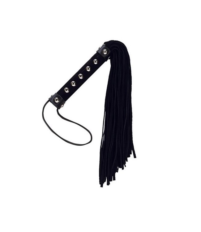 Punishment Large Suede Whip with Studs