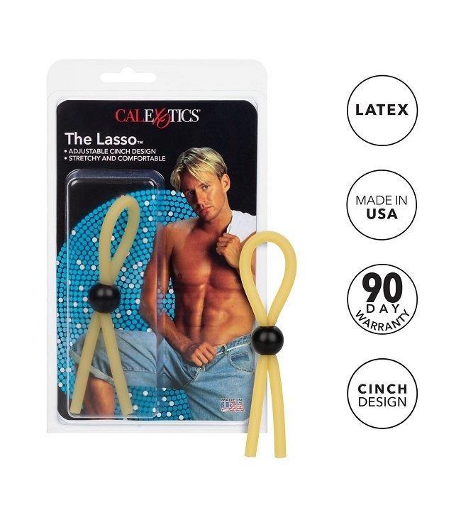 CalExotics The Lasso Adjustable Natural Rubber Cock Ring