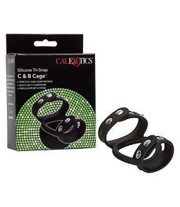 CalExotics Silicone Tri-Snap Cock & Ball Cage