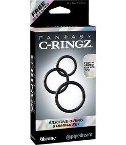 Fantasy C-Ringz Fantasy C-Ringz Silicone 3-Ring Stamina Set