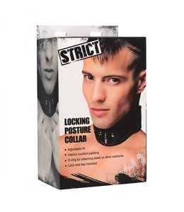 Strict Leather Locking Posture Collar
