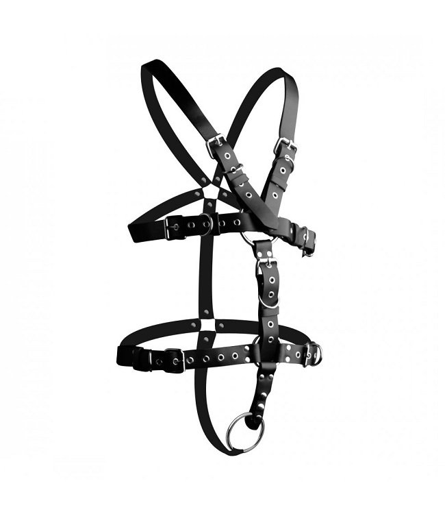 Strict Leather Strict Leather Body Harness with Cock Ring - Medium Large