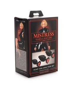 Mistress by Isabella Sinclaire Isabella Sinclaire Heart Gem Silicone 3 Piece Anal Plug Set