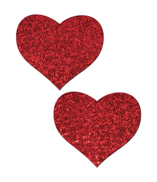 Pastease Pastease Red Glitter Heart Pasties