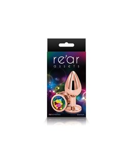 NS Novelties Rear Assets - Rose Gold - Medium - Rainbow