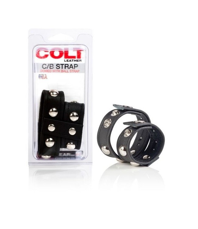 CalExotics COLT Leather C/B Strap Domed With Ball Strap