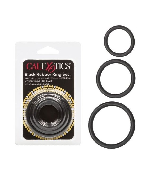 CalExotics Black Rubber Ring Set