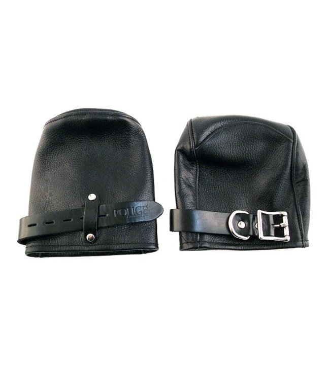 Rouge Rouge Leather Fist Mitts Black