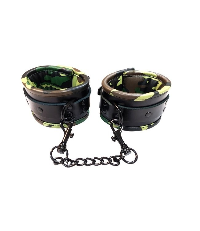 Rouge Rouge Leather Padded Wrist Cuff Black & Camo