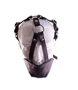Rouge Rouge Leather Mouth and Chin Gag Black