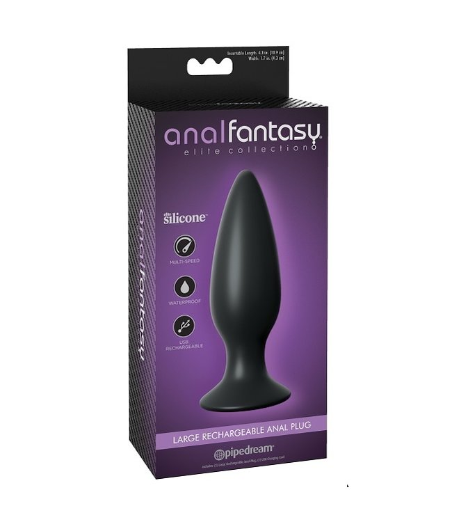 Anal Fantasy Elite Large Rechargeable Anal Plug