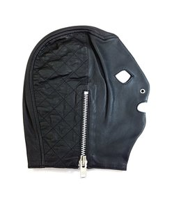 Rouge Rouge Leather Side Zip Mask Black L/XL