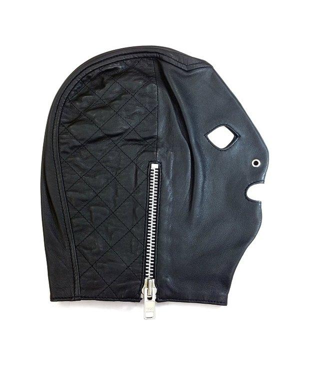 Rouge Rouge Leather Side Zip Mask Black L/XL