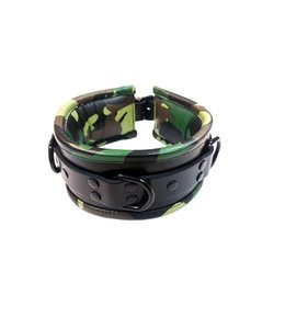 Rouge Rouge Leather Padded Collar Black & Camo