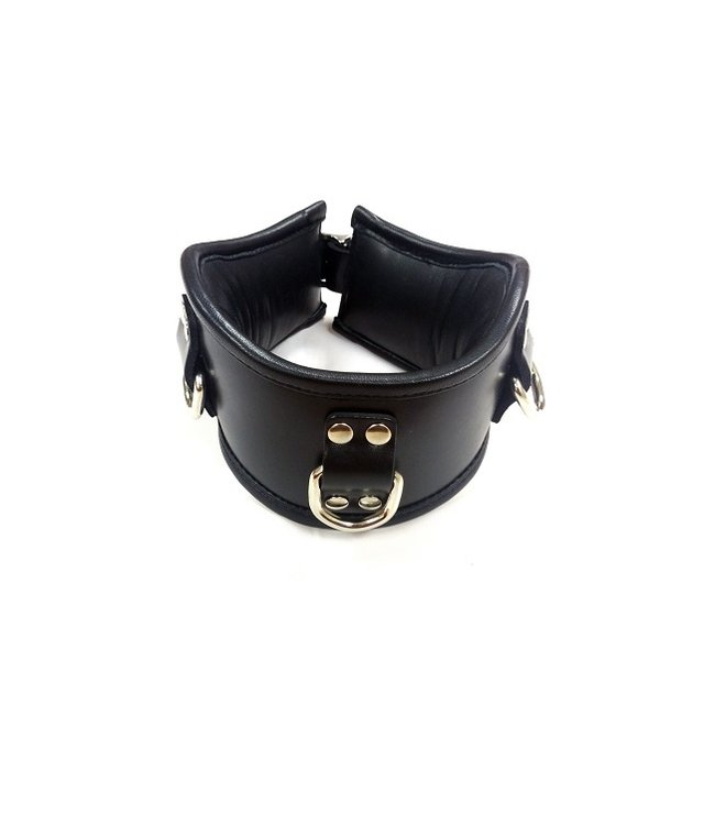Rouge Rouge Leather Posture Collar Black