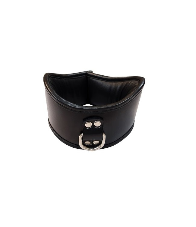 Rouge Rouge Leather Posture Collar with Single D-Ring Black