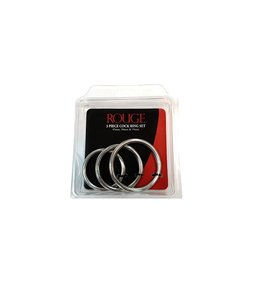 Rouge Rouge Stainless Steel 3 Piece Cock Ring Set