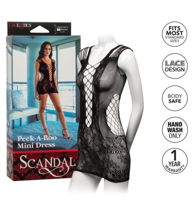 CalExotics Scandal Peek-A-Boo Mini Dress