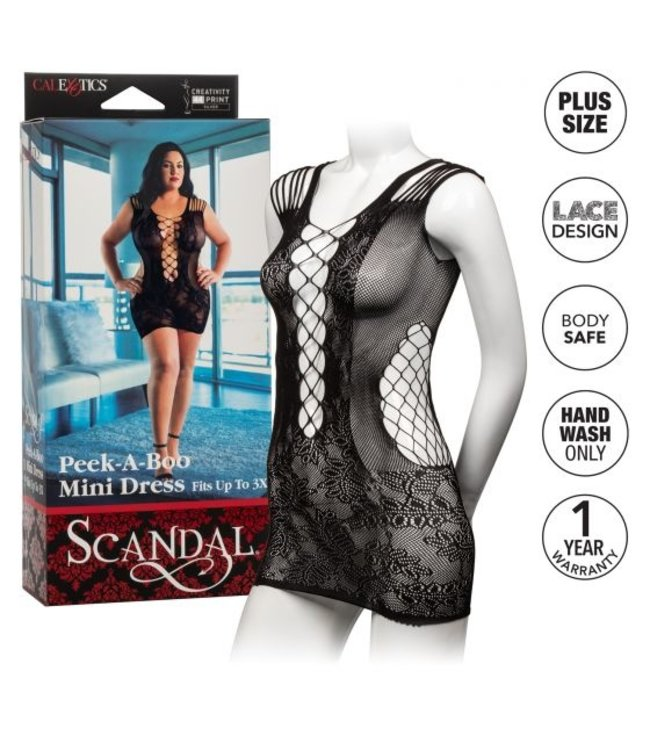 CalExotics Scandal Plus Size Peek-A-Boo Mini Dress