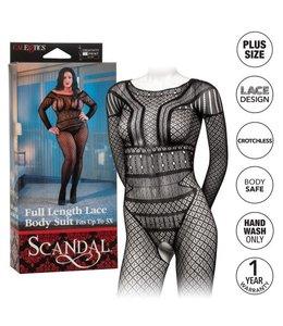 CalExotics Scandal Plus Size Full Length Lace Body Suit
