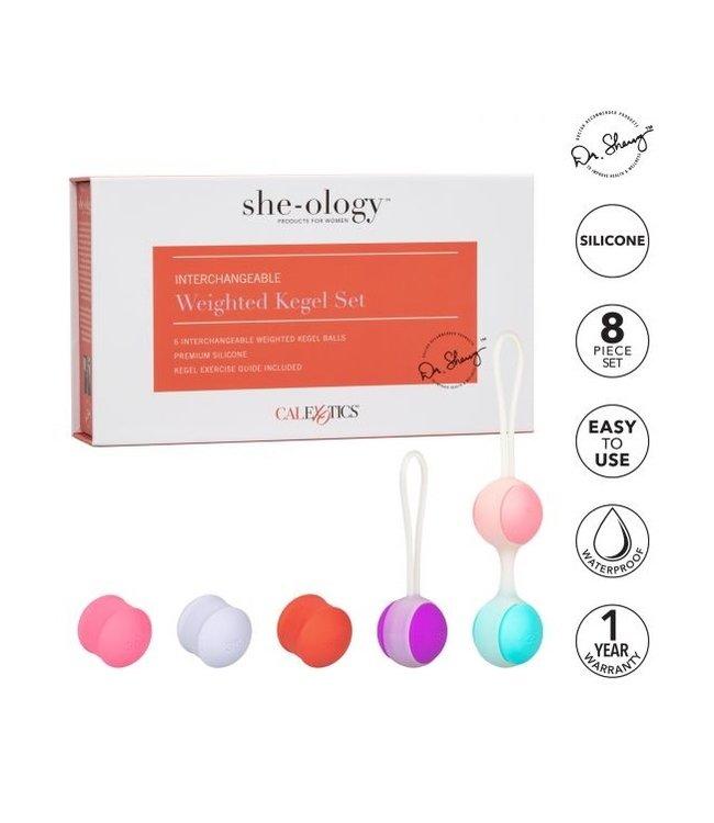 CalExotics She-Ology Interchangeable Weighted Kegel Set