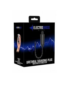 Shots America E-Stimulation Vibrating Urethral Sounding Plug - Black