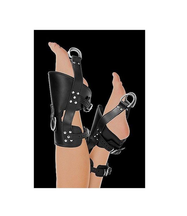 Shots America Pain Suspension Cuffs Saddle Leather Heavy Duty - Black