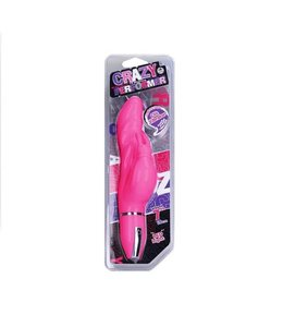 "Crazy Performer 7"" Silicone Ripple Rabbit Vibrator"