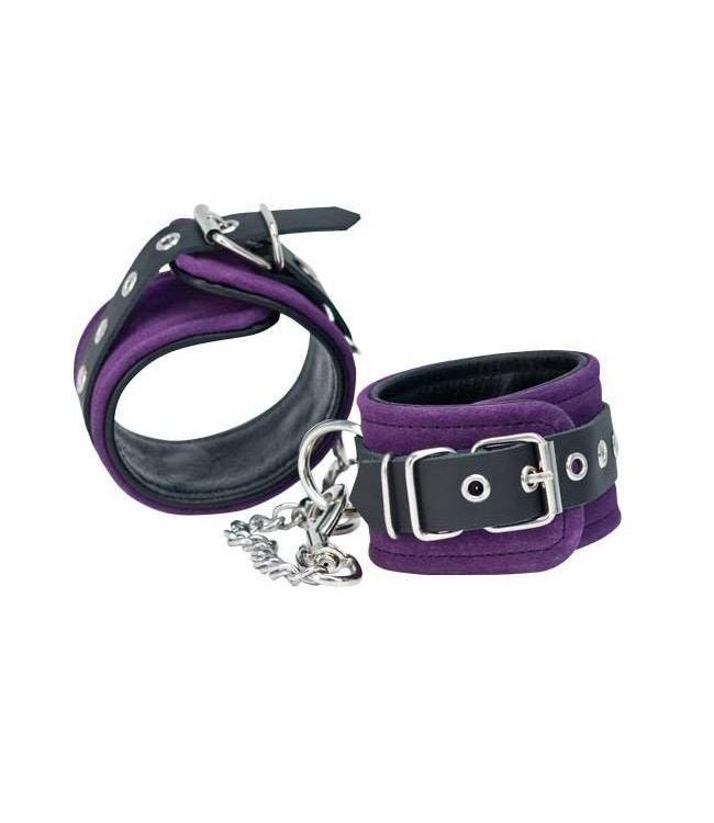 Punishment Purple Suede Ankle Cuffs