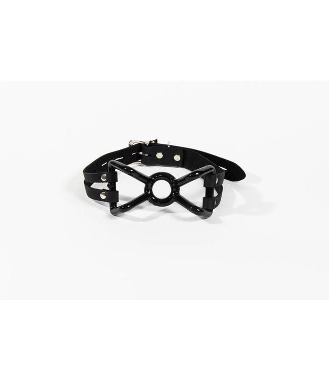 Rubber Coated Spider Gag with Leather Strap