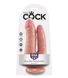 King Cock King Cock Double Penetrator Dildo with Suction Cup