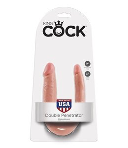 King Cock King Cock Double Trouble Dildo - Small